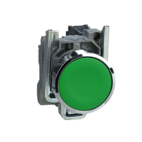 Schneider XB4BA31-bouton poussoir à impulsion – Ø22 – vert – 1F – vis étrier-min