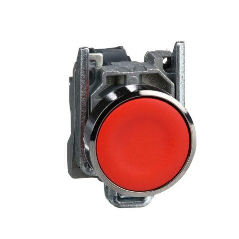 Schneider XB4BA42-bouton poussoir à impulsion – Ø22 -rouge -1O -vis étrier-min