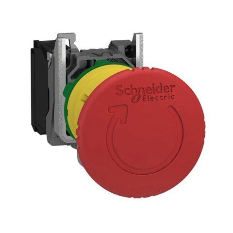 Schneider XB4BS8442-bouton arrêt urgence – Ø40 – rouge – 1O – vis-min