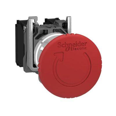 Harmony XB4 - bouton arrêt urgence - Ø40 - pousser tourner - rouge - 1O+1F - vis