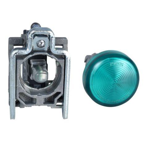 Schneider XB4BV63-voyant lumineux BA9s -Ø22 -vert -direct 250V max-min