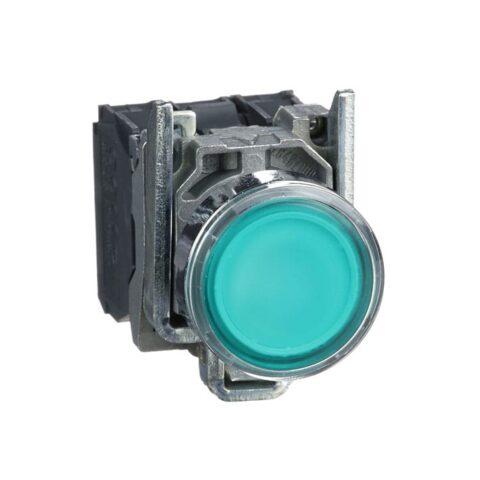 Schneider XB4BW33B5-poussoir lumineux LED -1F+1O -vert-min
