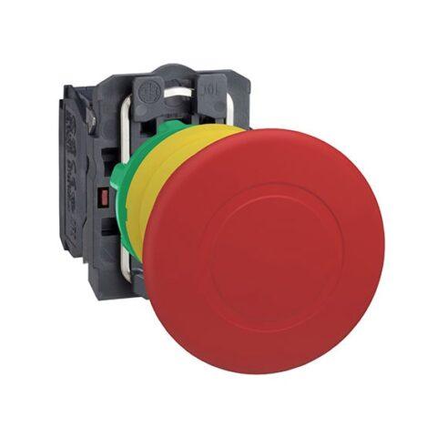 Schneider XB5AS8445-bouton arrêt urgence – Ø40 – pousser tourner – rouge-min