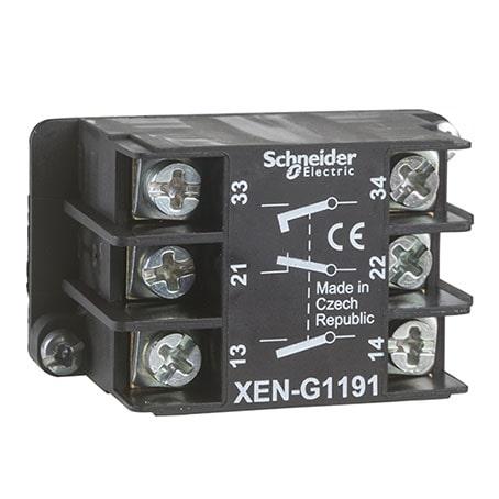 Schneider XENG1191- bloc contact à rappel – 1O+2F – montage frontal-min