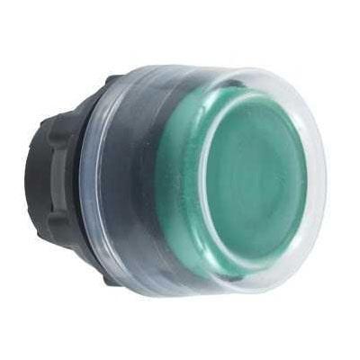 Schneider tête de bouton poussoir + capuchon IP69K - Ø22 - vert -ZB5AP3-min