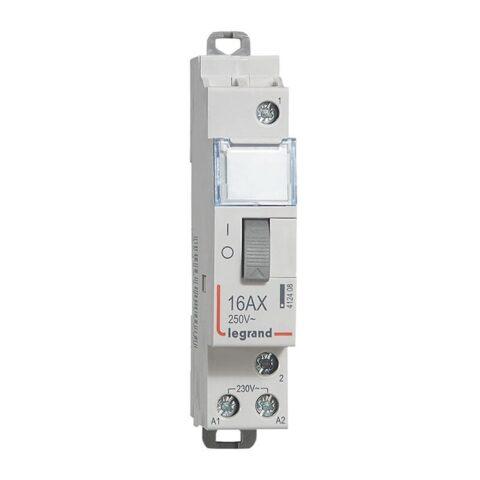 Télérupteur CX³ standard avec bornes à vis 1P 16A 250V~ contact 1F - tension commande 230V~ - 1 module