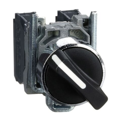 Harmony XB4 - bouton tournant manette - Ø22 - 2 pos fix - noir - 1O+1F - vis étr