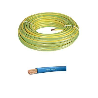 Fil électrique souple 16mm²- c100m - Multi couleurs – HO7VK16Fil électrique souple 16mm²- c100m - Multi couleurs – HO7VK16