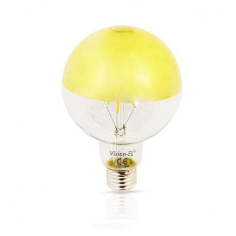 El-vision Ampoule LED E27 G95 Filament Miroir Doré 6W 2700K - 71538