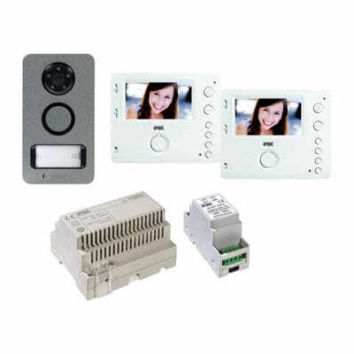 URMET Kit vidéo mains-libres Mini Note 2 pour 2 familles -1722/84