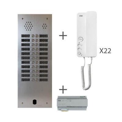 URMET Kit audio 2 rangées de touches -KA83-222