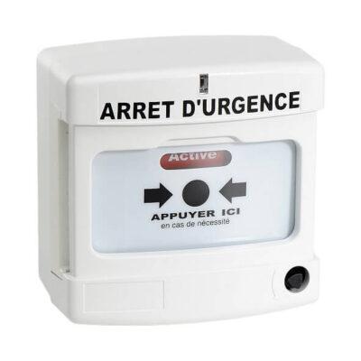 Axendis Déclencheur manuel conventionnel d'arret d'urgence blanc -10040