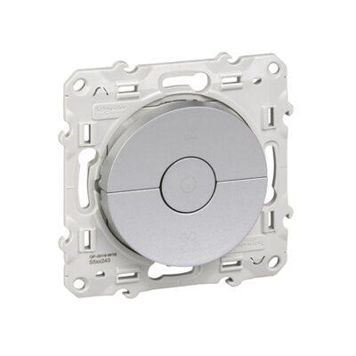 SCHNEIDER Odace Interrupteur VMC Alu à vis - S530243