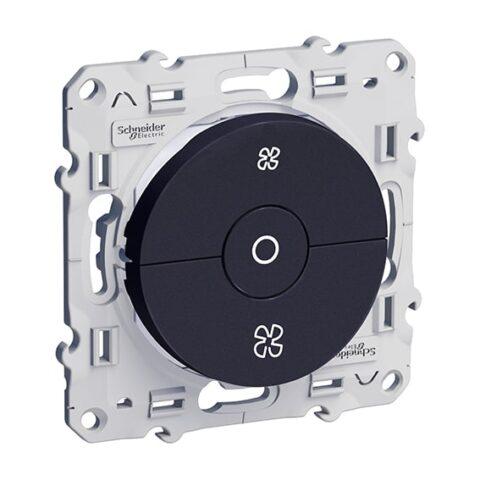 SCHNEIDER Odace Interrupteur VMC Anthracite à vis - S540243