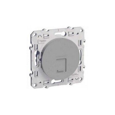 Prise multimédia RJ45 Grade 3 Odace - Cat. 6 STP - Aluminium - S530476
