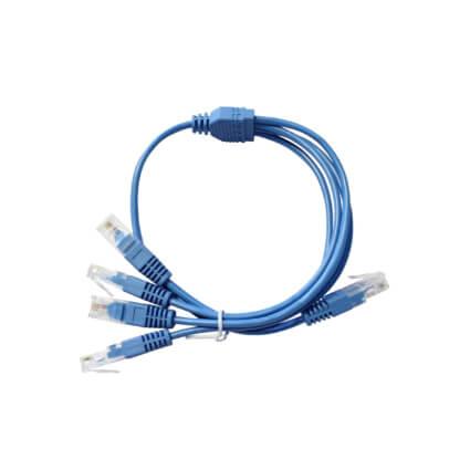 Lien'k Cordon Y UTP 2 paires Bleu 0,5m RJ45 2 RJ45 -C45Y445-005