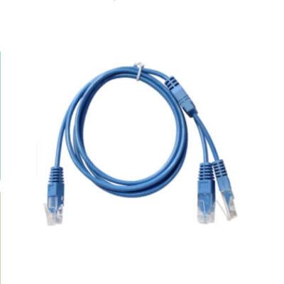 Lien'k Cordon Y UTP 2 paires Bleu 1,5m RJ45 2 RJ45 -C245Y45-015