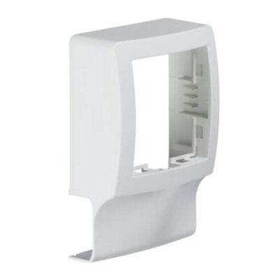 Support appareillage saillie Alréa pour moulure ATHEA 12x20mm blanc pure (1)