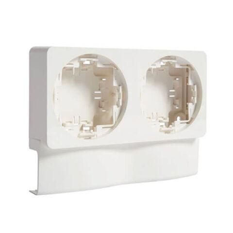 Support double pour ATA20x50 blanc paloma - ATA20592