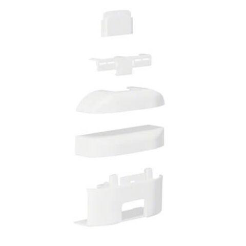 Té dérivation 3D pour moulure ATHEA 12x20mm en blanc pure