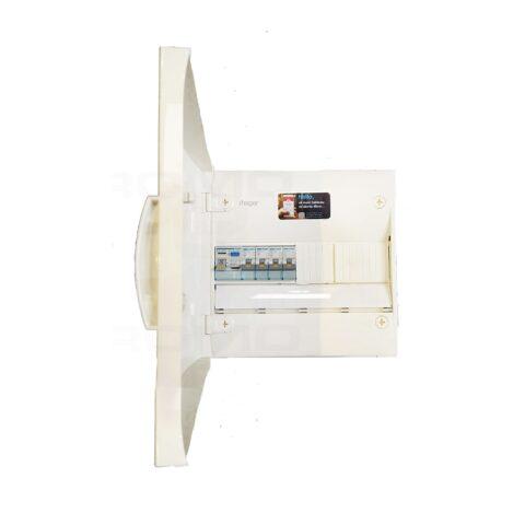 HAGER Gamma Tableau électrique prééquipé 1 rangée 1ID 40A- 4 disjoncteurs