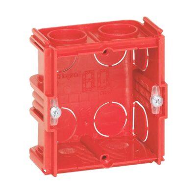Boîte monoposte Batibox maçonnerie carrée 1 poste associable - profondeur 40mm-min