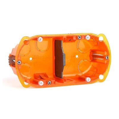 Boîte multimatériaux Batibox 2 postes 4 à 5 modules montage vertical ou horizontal - profondeur 40mm-min