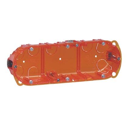 Boîte multimatériaux Batibox 3 postes 6 à 8 modules montage vertical ou horizontal - profondeur 40mm-min