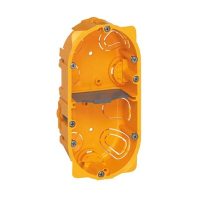 Boîte multiposte Batibox pour cloisons sèches 2 postes ou 4 à 5 modules - profondeur 40mm-min