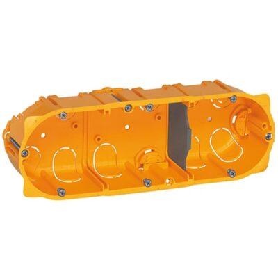 Boîte multiposte Batibox pour cloisons sèches 3 postes ou 6 à 8 modules - profondeur 40mm-min