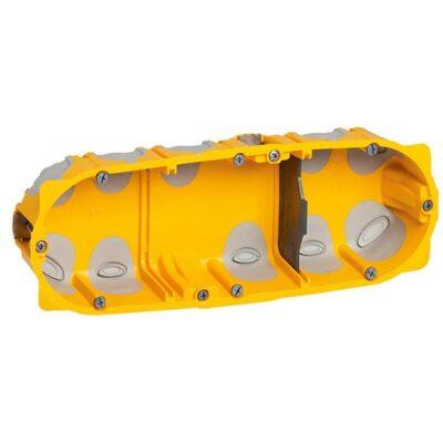 Boîte multipostes Ecobatibox 3 postes 6 à 8 modules - profondeur 40mm-min