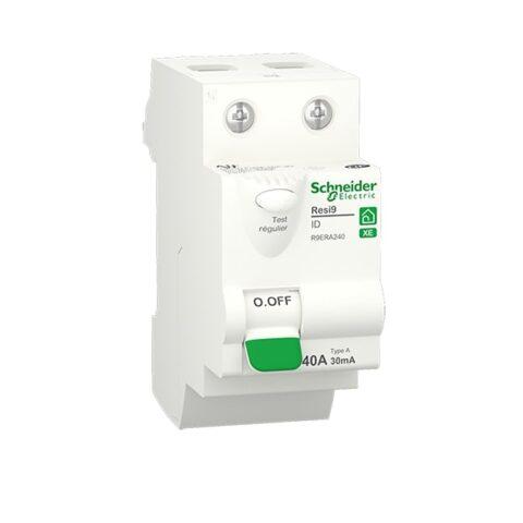Resi9 XE - interrupteur différentiel - 2P - 40A - 30mA - Type A - embrochable-min