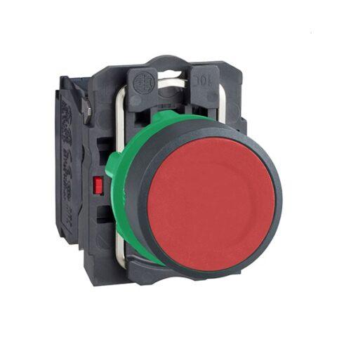 Schneider bouton poussoir à impulsion Ø22 -Rouge -1O -XB5AA42-min