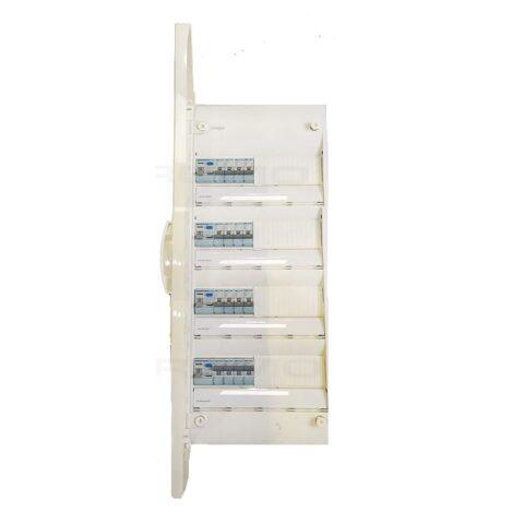 Tableau prééquipé 3 rangées-1ID 63A-3ID 40AC -16 disjoncteurs