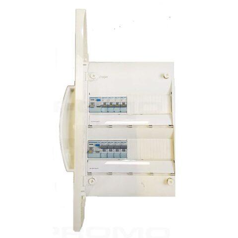 Tableau prééquipé 2 rangées-1ID 63A-1ID 40AC -8 disjoncteurs