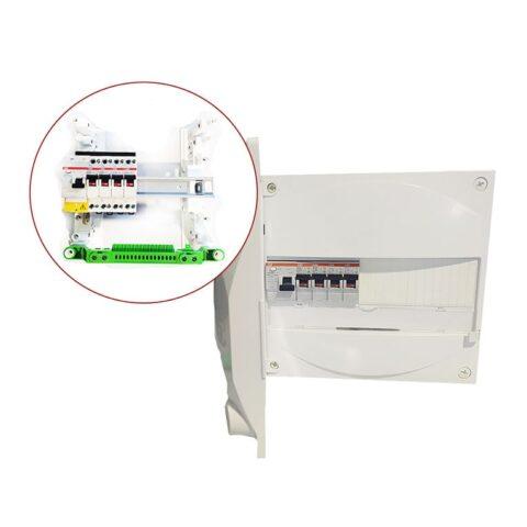 Tableau électrique équipé 1 rangée ID 40A - 4 disjonteurs