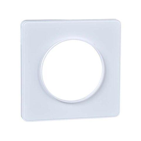 Schneider Plaque 1 Poste Blanc - Odace Touch -S520802