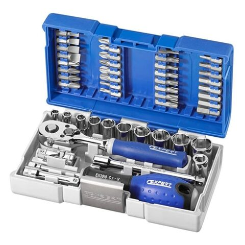 Coffret serrage-vissage 1/4'' ultra-compact 48 pièces - E030729