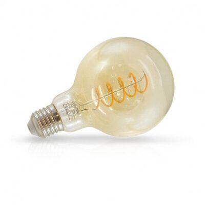 El-vision Ampoule LED E27 G95 Filament Spirale 4W 2700K Golden - 71530