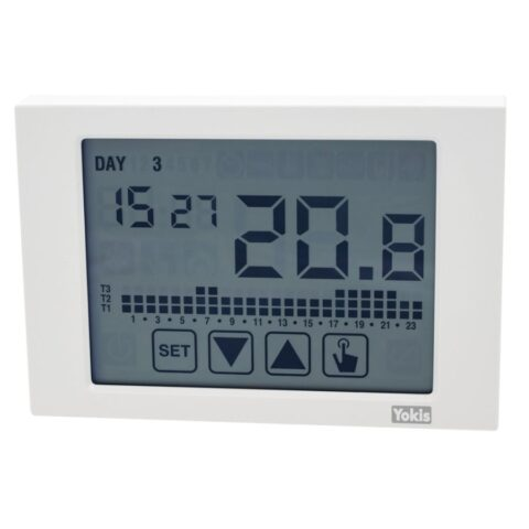 Yokis Thermostat Sans fil - Écran tactile - Blanc - IP40 -THERMARP