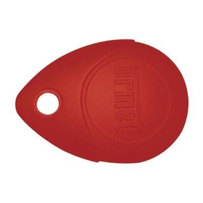 URMET Badge de proximité -Rouge -13.56 MHz -MEMOPROX/R