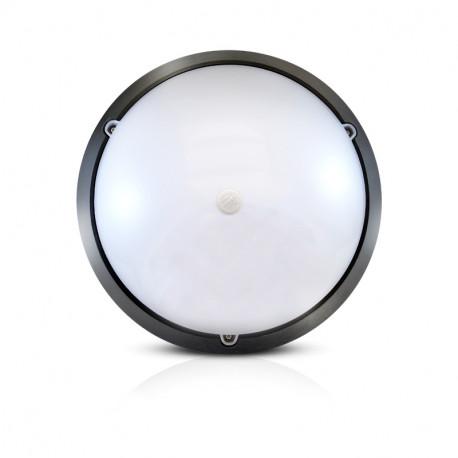 Vision-El LED Hublot + Détecteur IR Ø300 18W 4500K IP65 Noir -779003
