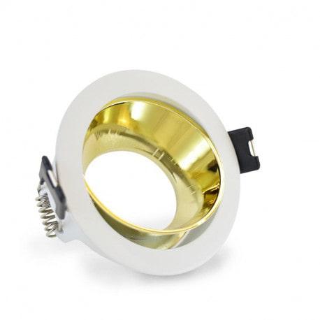 Vision-El Support spot basse doré rond Ø80 mm -7729