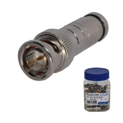 Fiche BNC mâle à compression pour câble iDEF61 Ø4.5mm