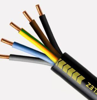 Câble électrique U1000 R2V 5G2.5 mm²