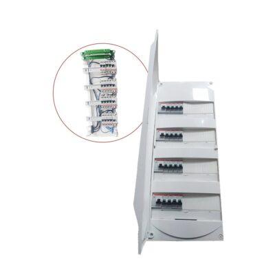 Tableau électrique équipé 4 rangées 3ID 40AC -1ID 40A - 16 disjonteurs