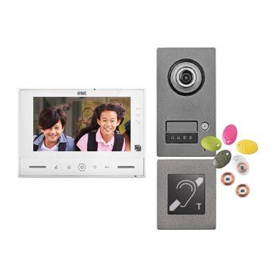 Kit Note 2 ERP vidéo couleur 7'' mains-libres à mémoire 1 appel