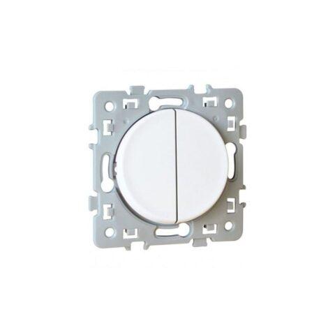Permutateur Square 1 poste - 10AX - 250V - Blanc - 60226