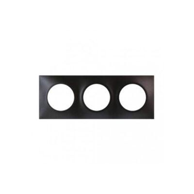 Plaque Square Eur'Ohm - 3 postes - Anthracite - 60398