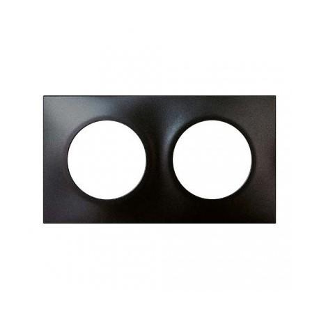 Plaque Square 2 postes Eur'Ohm - Anthracite - 60397